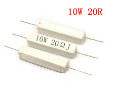 10PCS 10W Watt 20R 20OHM 5% Ceramic Cement Power Resistor Free Shipping AK