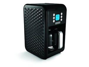 Morphy Richards 163002 Vector Filter 900W 1.8 Litre Coffee Maker Machine Black