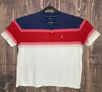 Nautica Mens Polo Shirt Size XXL 100% Cotton Short Sleeve Multicolor