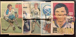 Vintage NHL Buffalo Sabres Buffalo News Posters - 5 Posters Tim Horton & More