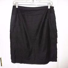 Women's Calvin Klein Black Ruffle Layered Skirt Size 8