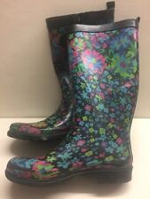 Women's Rubber Boot Size 6 Capelli New York Floral Print