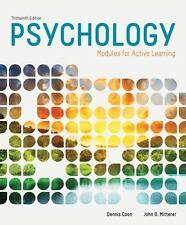 Psychology: Modules for Active Learning, Coon, Dennis, Mitterer, John O., Good B