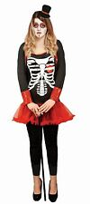 Womens DAY OF THE DEAD Adult Ladies Fancy Dress Trick or Treat Halloween Costume