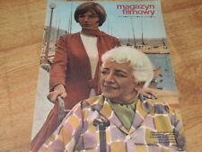 Magazyn Filmowy 10/1970 polish magazine Francoise Rosay, Marlene Jobert,