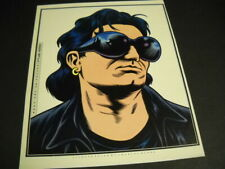 U2 Bono colorful dynamic drawing original 1993 Rsm unique image suitable framing