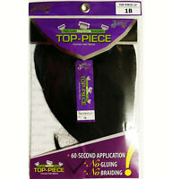 TOP PIECE BY  HOLLYWOOD ZURY HUMAN HAIR BLEND EASY TO CLIP REMOVABLE CLOSURE