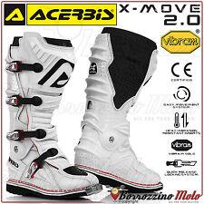 BOTTES ACERBIS X-MOVE 2.0 BIANCO HORS ROUTE MOTOCROSS MOTO CROSS QUAD ENDURO N.