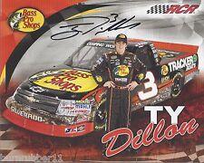 "SIGNED 2012 TY DILLON ""BASS PRO SHOPS #3"" NASCAR CAMPING WORLD TRUCK POSTCARD"
