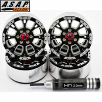 Hot Racing Aluminum Billet 1.9 Beadlock Wheels w/ 12mm Hex (C-Style) (4)