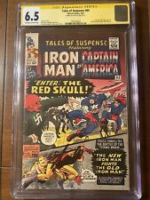 TALES OF SUSPENSE #65 5/65 CGC 6.5  OWW SS STAN LEE FIRST SILVER AGE RED SKULL!!