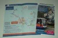 Centrebus UHL Leicester Hospital Hopper timetable booklet & guide September 2017