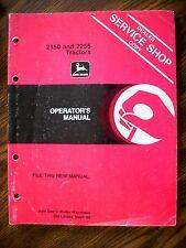 JD John Deere 2150 2255 Tractor Owners Manual