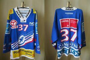 HC Kloten Flyers #37 Camenzind MATCH WORN Size XL Ice Hockey jersey shirt Swiss
