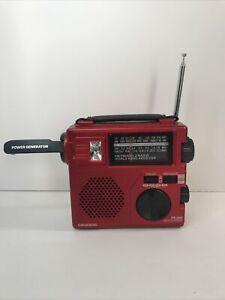 Grundig FR-200 AM/FM/SW1/SW2 World Band Rec Radio w/ Light  Crank Emergency Camp