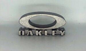 New Oakley 3D Metal Foundational Logo Block Case Display