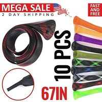 Fishing Rod Sleeves Socks Covers Braided Protector Tool Bait Casting Spinning