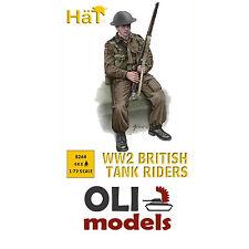 1/72 WW2 BRITISH TANK RIDERS (44) Figures Set - HaT 8264