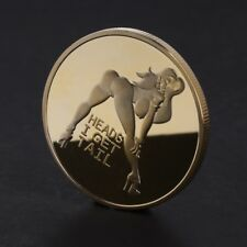 Golden Sexy Woman Luck Commemorative Collection Coin Arts Gifts Souvenir Alloy