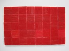 """Loose 3/4"""" (2 cms) square Glass Mosaic Tiles - 40 pieces - """"Cherry Red"""""""