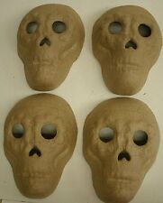 Lot of 4 Ready to Paint -Paper Mache Day of the Dead Sugar Skull mask