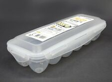 Airtight Locking Lid Eggs Containers Holder Storage Box Portable Fridge Tray