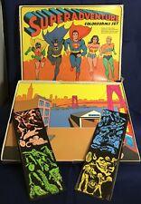 SuperAdventure Colorforms Set DC Superheroes Wonder Woman Superman Batman 1974