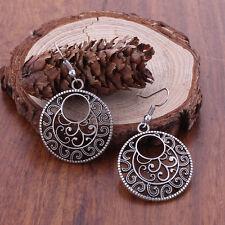 ORECCHINI ARGENTATI TONDI FILIGRANA   - Bohemian Ethnic Vintage Tibetan Silver