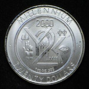 1999 Republic of Liberia Y2K Millenium Collectable Coin 1-oz .999 Silver slb1464
