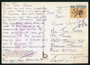Mayfairstamps Australia to Thailand Postcard wwp4721