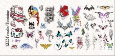 1/12 Scale Waterslide Decals for Action Figures tattoos: Female Feminine Designs