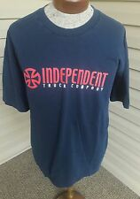 VINTAGE 90's INDEPENDENT TRUCK COMPANY T SHIRT XL BLUE RED Skater Skateboarding