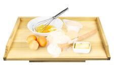 trasera bordo XL teigbrett nudelbrett TABLA COCINA ENCIMERA madera 65x50cm
