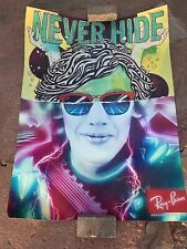Rayban Never Hide Retail Display Poster! Clubmaster Retro. Original
