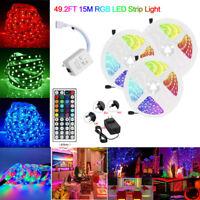 5-15M LED Stripe RGB Leiste Streifen 5050 Band Lichterkette 44 Schlüsselfern 12V