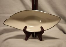 Lenox Crescent Collection Gondola Shaped Candy Nut Dish Platinum Trim Made Usa