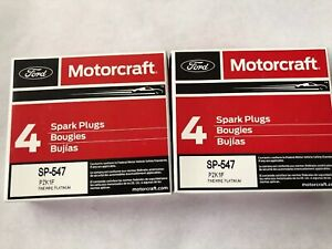 Set of 8: Genuine Ford Motorcraft Platinum Spark Plugs SP-547 PZK1F SP514 PZH1F