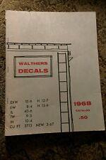 Vintage WALTHERS DECALS 1968 Catalog HO model train Trains Railroad collectors