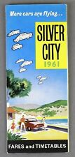 SILVER CITY AIRWAYS AIRLINE TIMETABLE SUMMER 1961