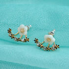 Women Rhinestone Crystal Daisy Flower Ear Stud Elegant Earrings Jewelry Gift New