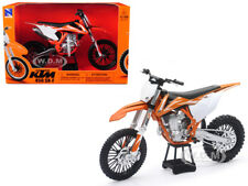 KTM 450 SX-F DIRT BIKE ORANGE AND WHITE 1/10 MOTORCYCLE MODEL BY NEW RAY 57943