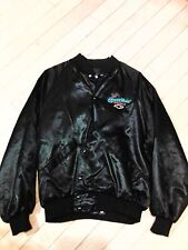 Chevrolet The Hearbeat of America Black Satin Jacket Size Large