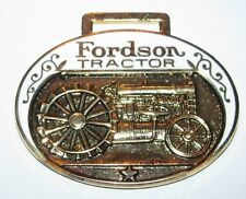 *Fordson Tractor Pocket Watch Fob 24th IWFAI 1988 Richfield Ohio Mfg Hoovers