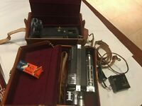 Wittnauer Cine -Twin Model WD 400 8mm Movie Camera w/ case cords, etc. Vintage