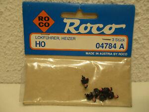 (F14) 1/87 H0 Roco Figuren-Set 3x Lokführer und 3x Heizer  NEU OVP 40001 / 04784