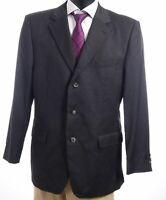 HUGO BOSS Sakko Jacket Portmann Gr.56 grau uni Einreiher 3-Knopf -S293