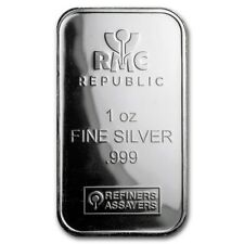1 oz Silver Bar - Republic Metals Corporation (RMC) .999