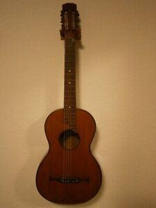Sehr alte Gitarre defekt für Bastler und Sammler