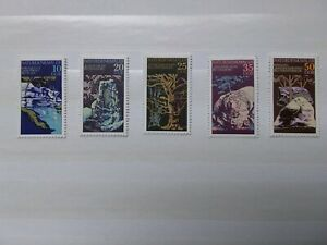 GDR Stamps  1977 natural monuments scott 1796-1800 unmounted mint set