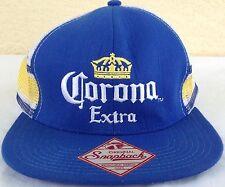 Corona Extra original SnapBack hat blue white yellow adjustable baseball trucker